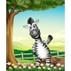 A Smiling Zebra near the Tree - GraphicRiver Item for Sale
