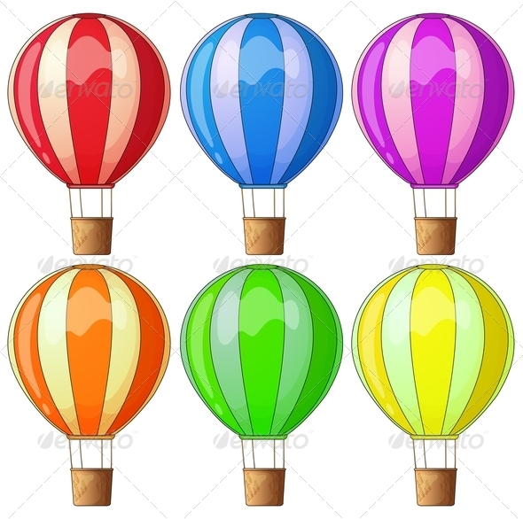 GraphicRiver Colourful Hot Air Balloons 7943087