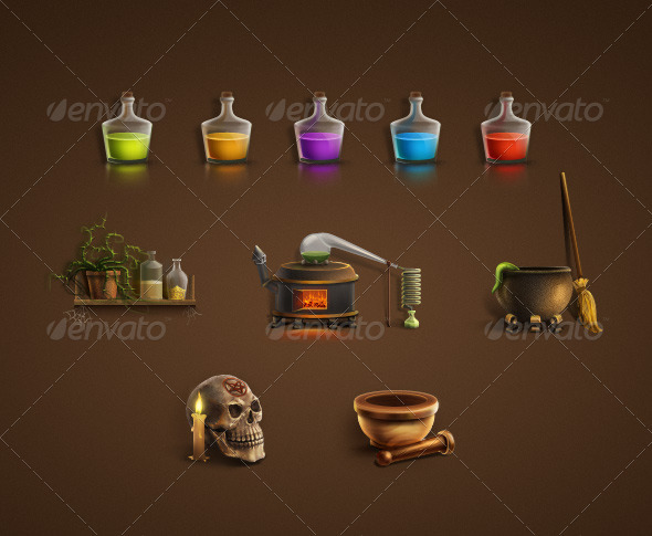 GraphicRiver Alchemical Icon Set 809815