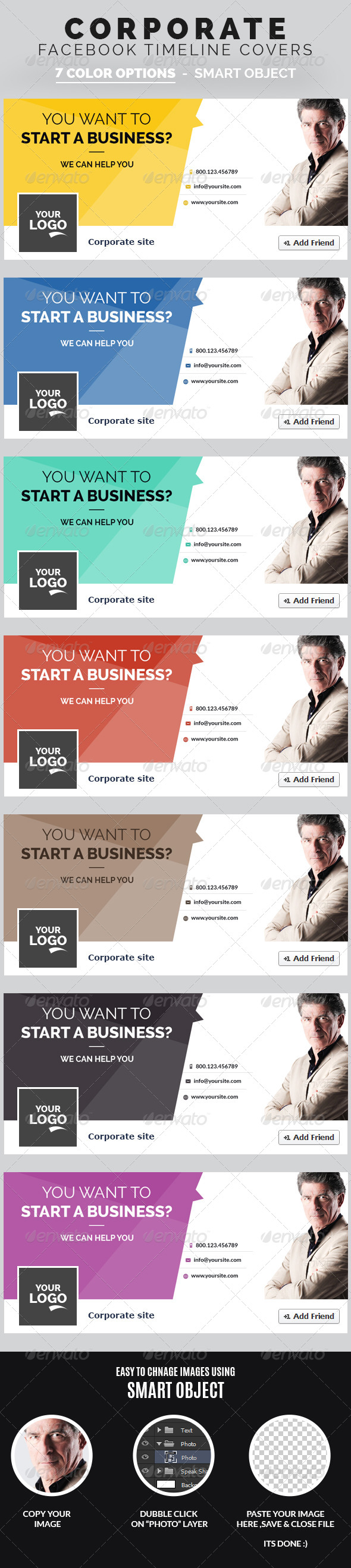 GraphicRiver Corporate Facebook Timeline Covers 7943251