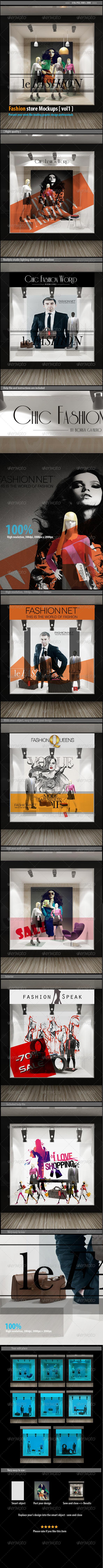 GraphicRiver Fashion sotre mockups [vol1] 7943291