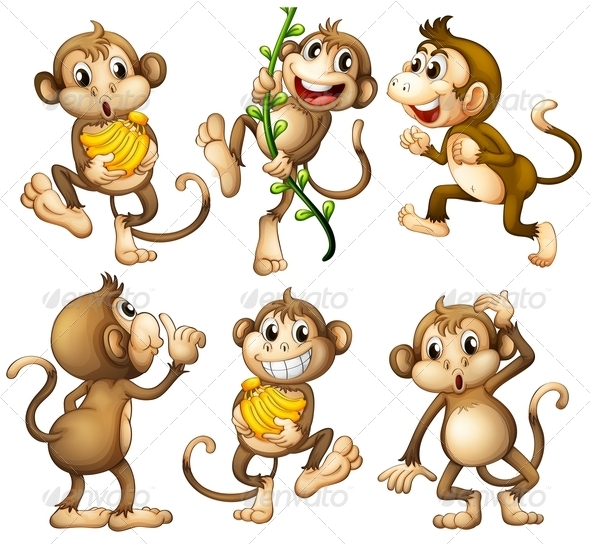 GraphicRiver Playful Monkeys 7944854