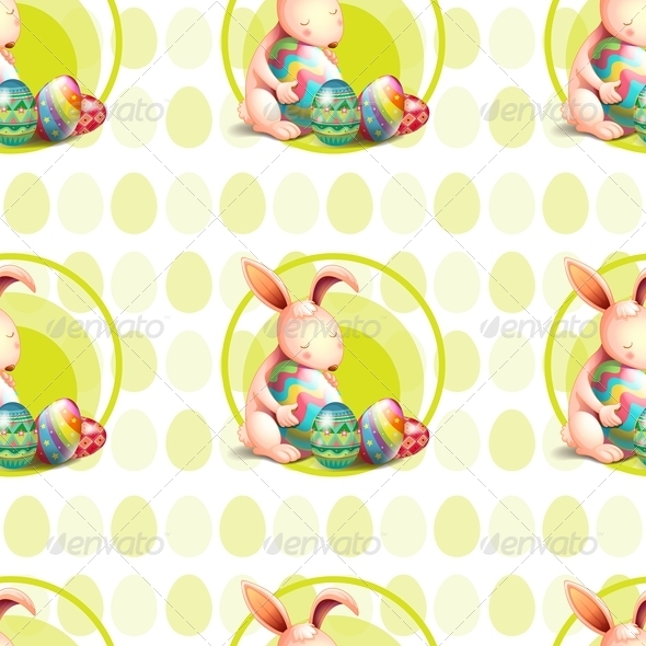 GraphicRiver Bunny Pattern with Easter Eggs 7945091