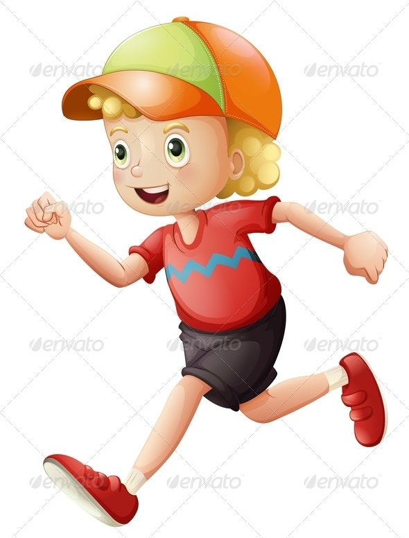GraphicRiver Kid Running 7945291