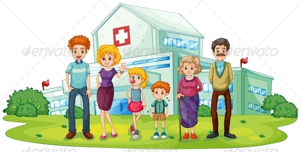 GraphicRiver Family Near Hospital 7945529