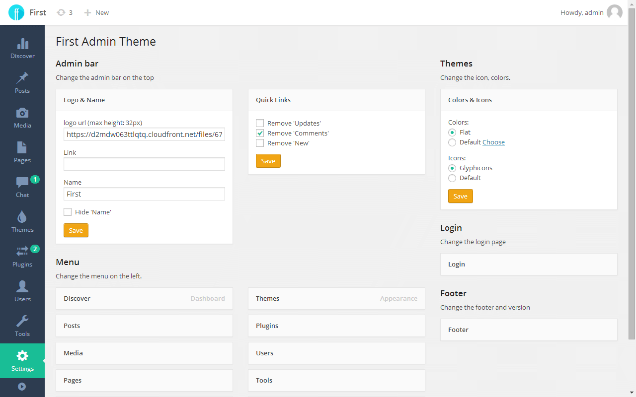 Скачать шаблон админки joomla