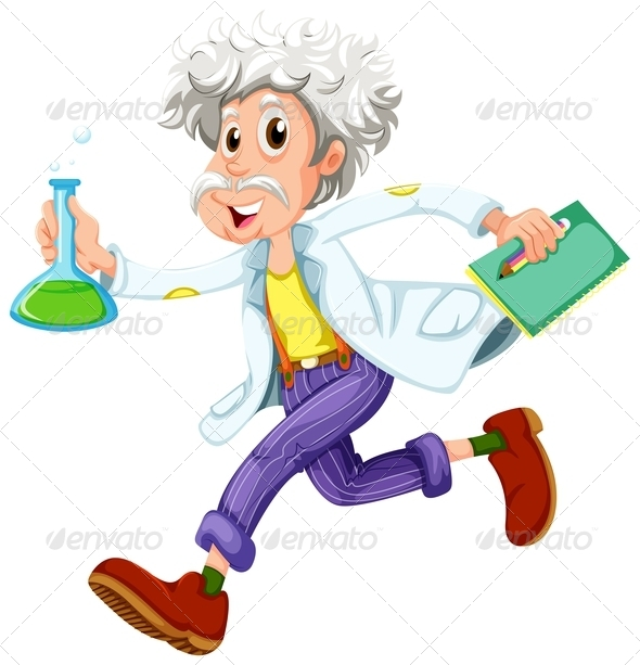 GraphicRiver Scientist in a Hurry 7945743
