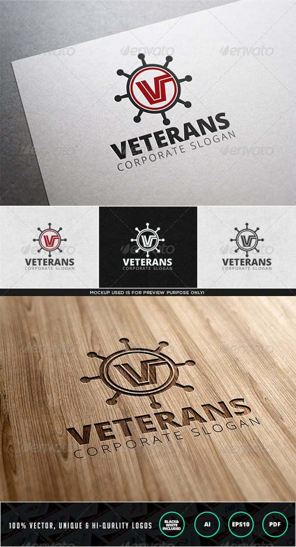 GraphicRiver Veterans Logo Template 7945814