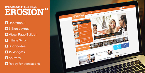 Erosion - Responsive Blog WordPress Theme - Blog / Magazine WordPress