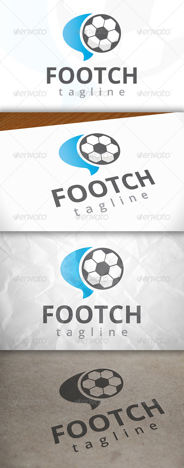 GraphicRiver Football Chat Logo Template 7946239
