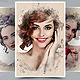 Artistic Portrait Watercolor Photo Template - GraphicRiver Item for Sale