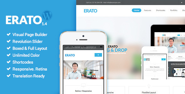 Erato - Multipurpose WordPress Theme - Corporate WordPress