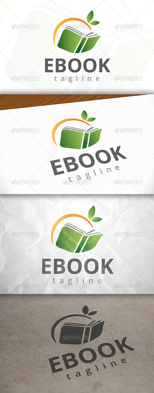 GraphicRiver Eco Book Logo 7946532