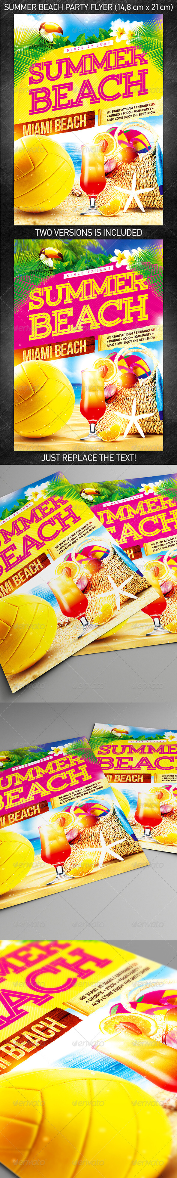 GraphicRiver Summer beach party flyer 7946557