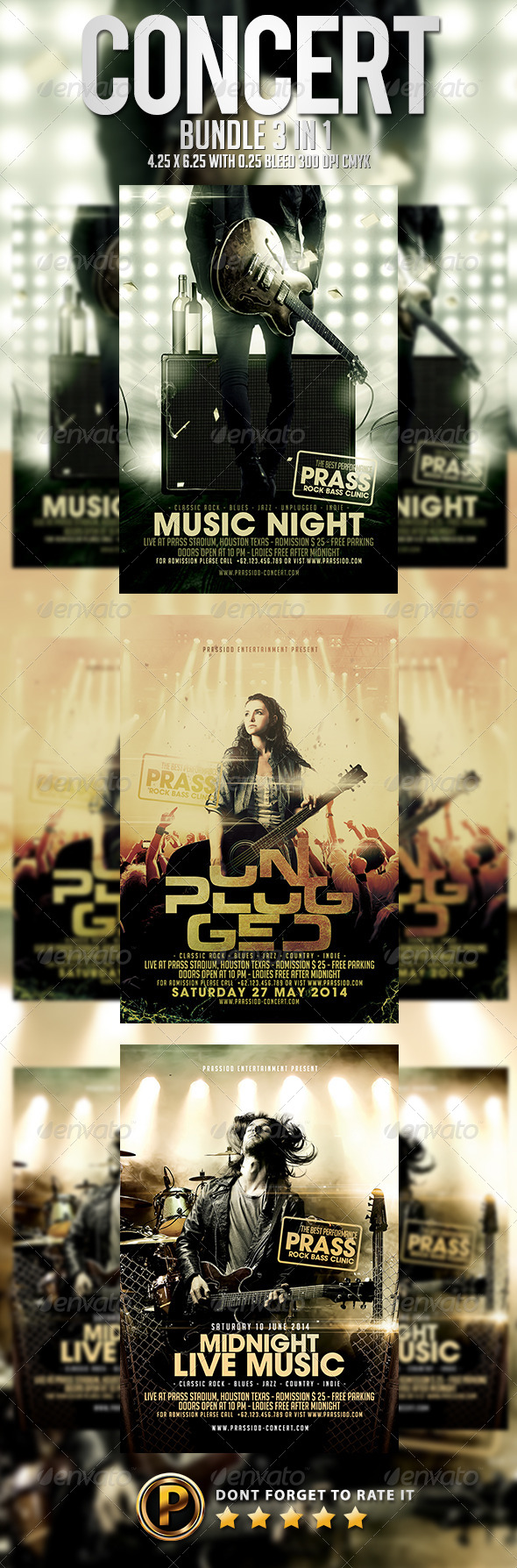 GraphicRiver Concert Flyer Template Bundle 3 in 1 7946644