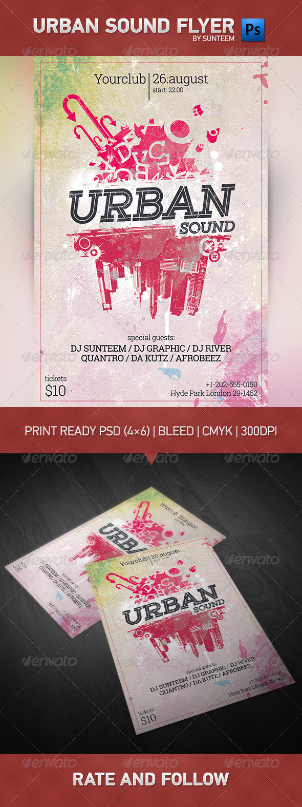 GraphicRiver Urban Sound Party Flyer Template 7901976