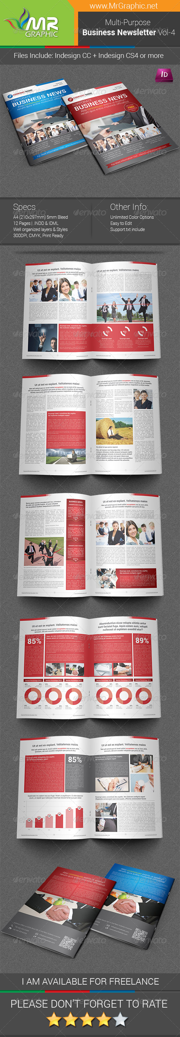 GraphicRiver Multipurpose Business Newsletter Template Vol-04 7946659