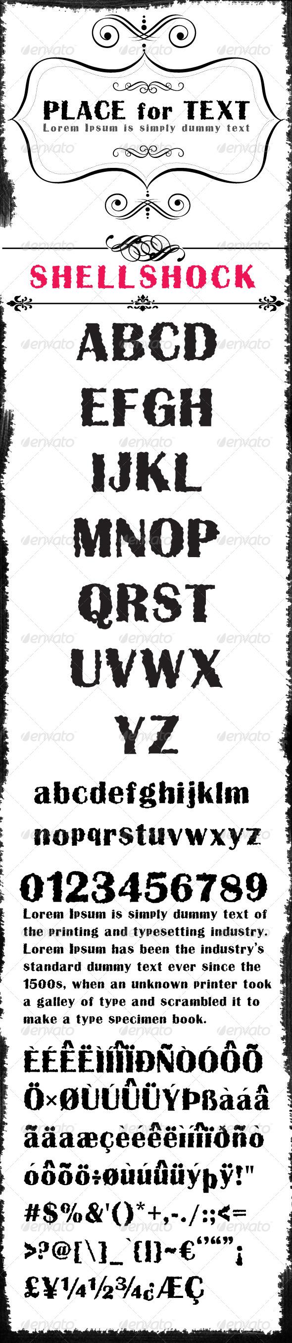 GraphicRiver Shellshock Font 7946687