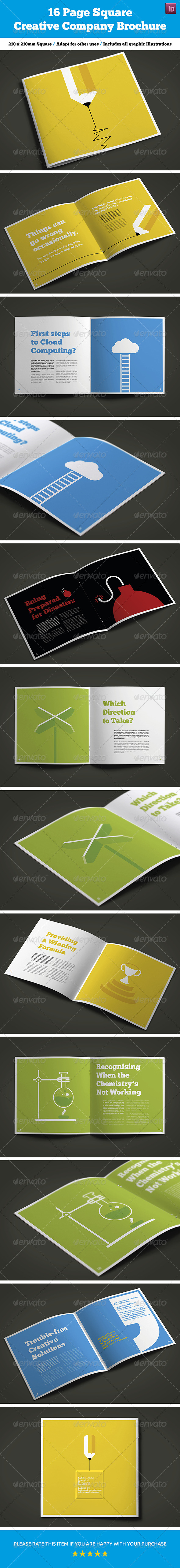 GraphicRiver 16 Page Square Creative Company Brochure 7946903