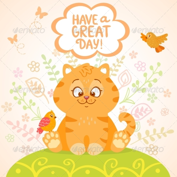 GraphicRiver Kitten and Birds 7946906
