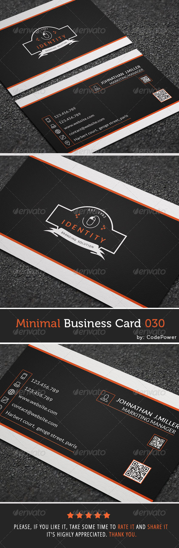 GraphicRiver Minimal Business Card 030 7929736