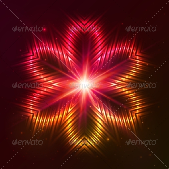 GraphicRiver Fire Red Vector Star 7947335
