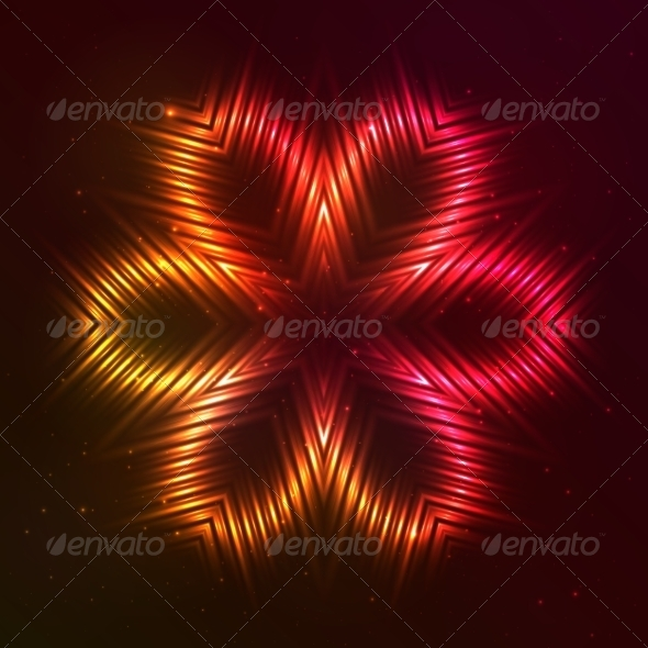 GraphicRiver Fire Red Vector Star 7947432
