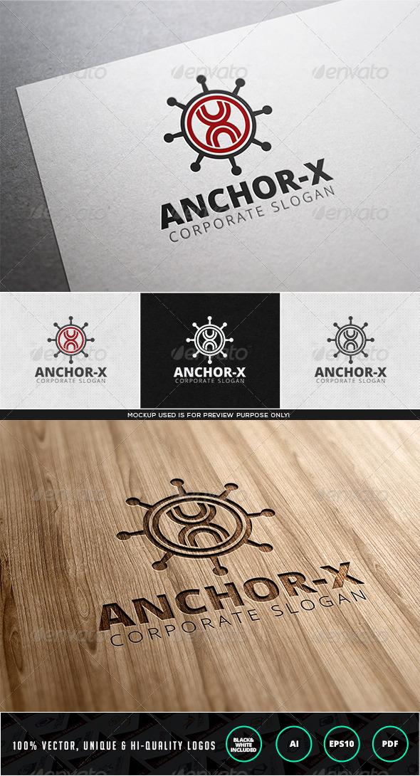 GraphicRiver Anchor X Logo Template 7947438