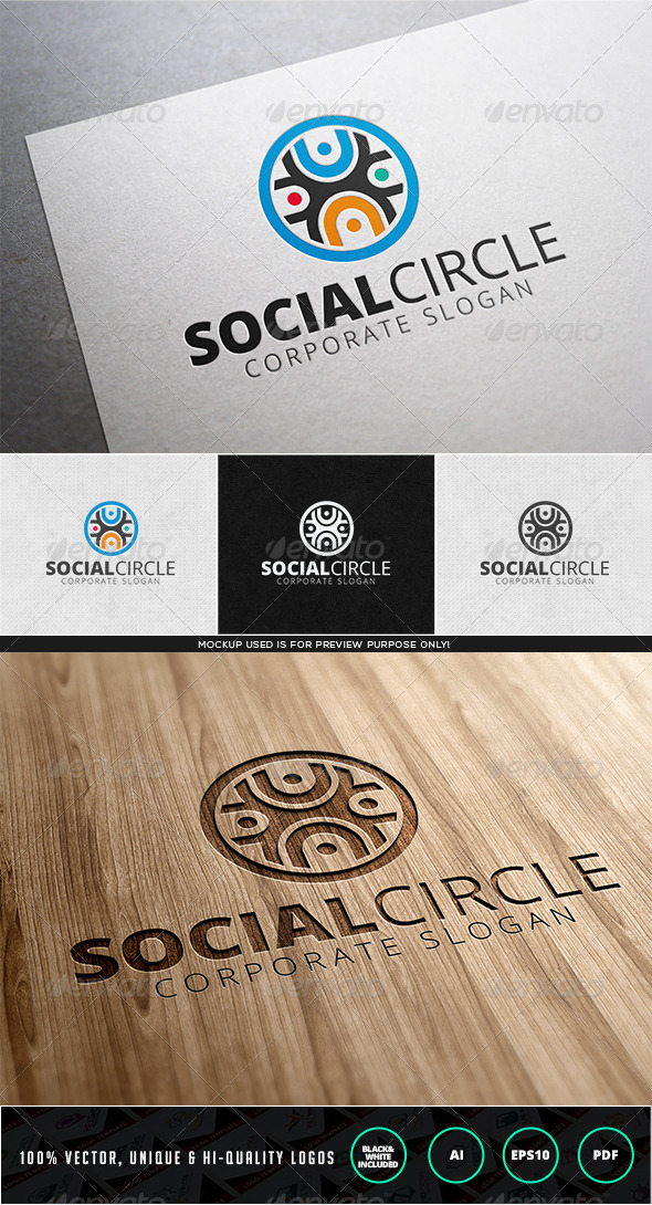 Social Circle Logo template - Humans Logo Templates