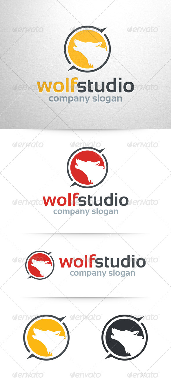 GraphicRiver Wolf Studio Logo Template 7947507