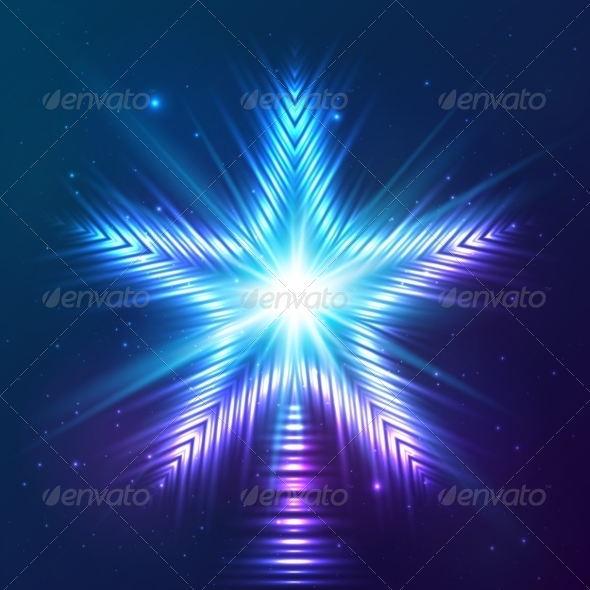 GraphicRiver Blue Shining Vector Star 7947724