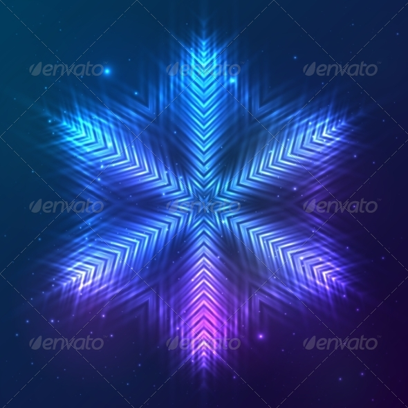 GraphicRiver Cosmic Shining Vector Abstract Snowflake 7947770