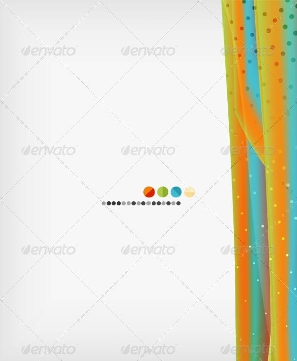 GraphicRiver Orange Straight Lines Geometric Background 7947811