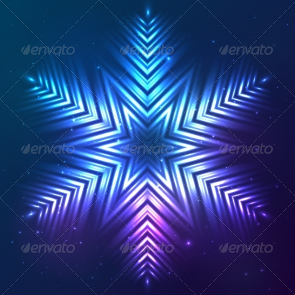 GraphicRiver Cosmic Shining Vector Abstract Snowflake 7947838
