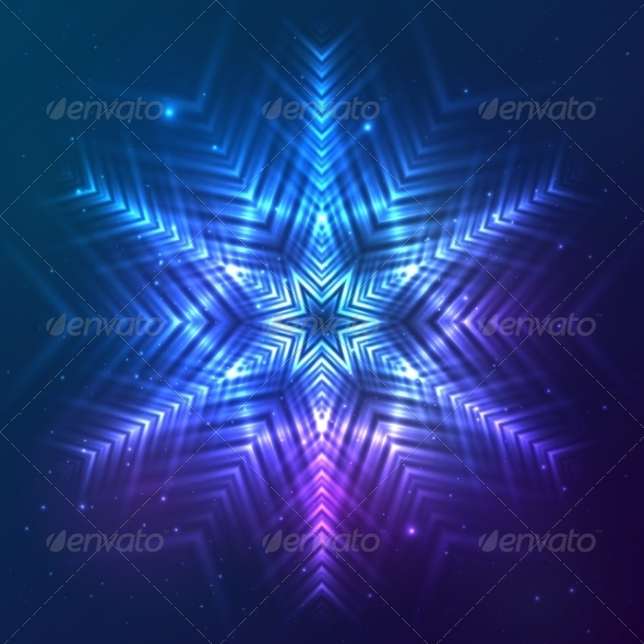 GraphicRiver Cosmic Shining Vector Abstract Snowflake 7947858