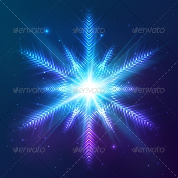 GraphicRiver Cosmic Shining Vector Abstract Snowflake 7947902