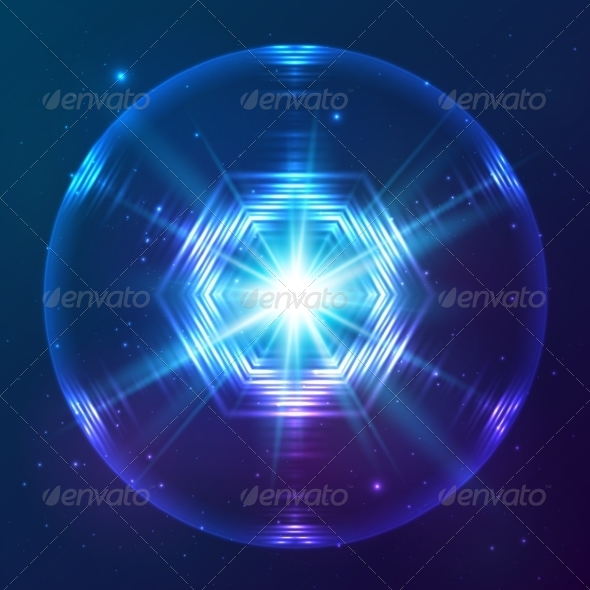 GraphicRiver Cosmic Shining Vector Abstract Sphere 7947950