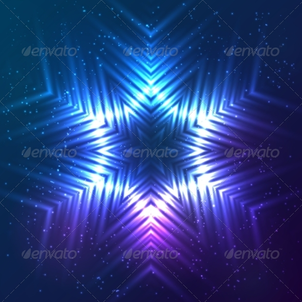 GraphicRiver Cosmic Shining Vector Abstract Snowflake 7948114