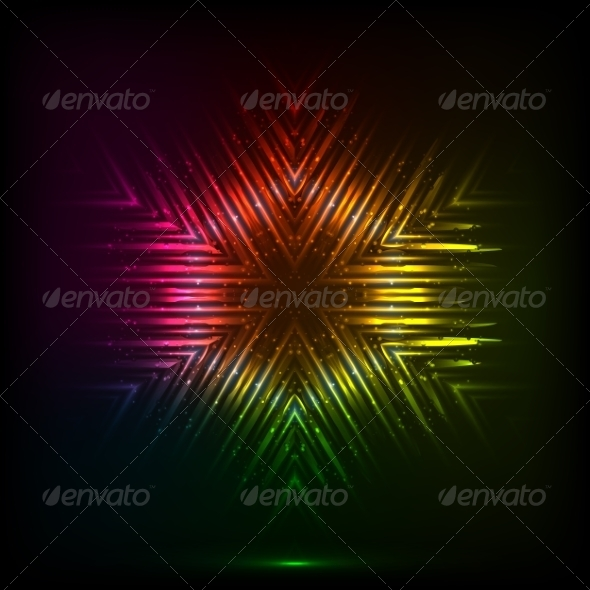 GraphicRiver Cosmic Shining Vector Abstract Snowflake 7948172