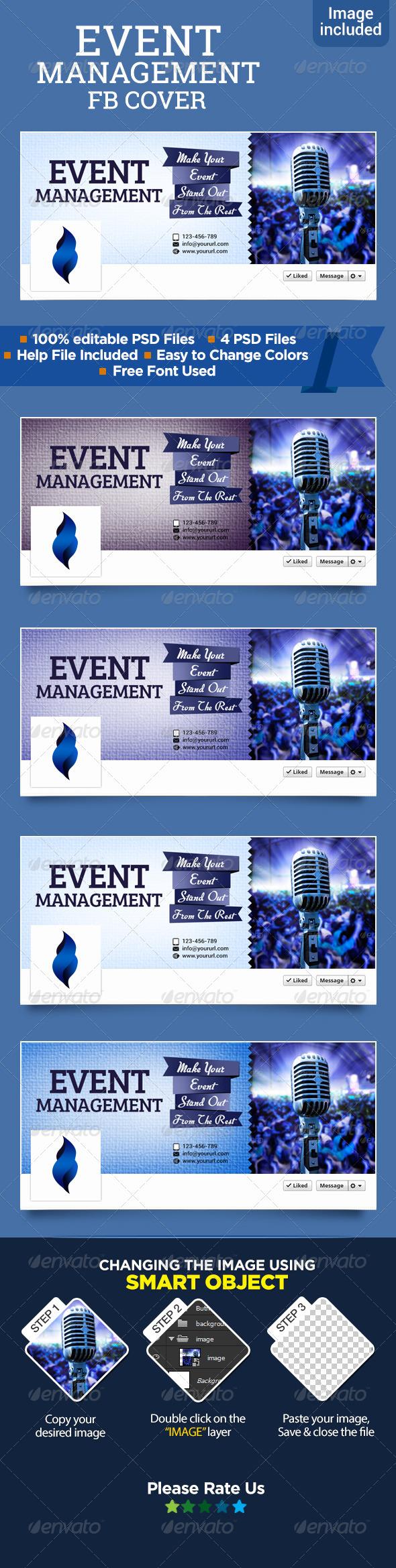 GraphicRiver Event Management Facebook Cover 7948603