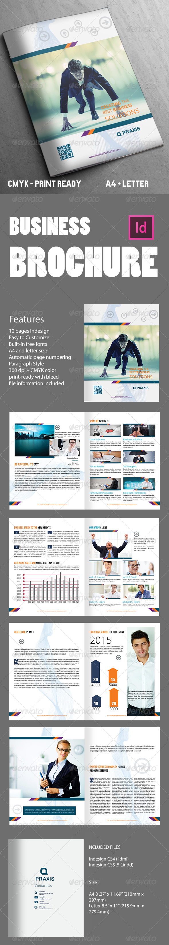 GraphicRiver Abstract Business Brochure 10 Pages 7948606