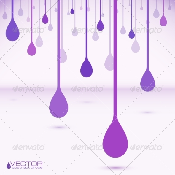 GraphicRiver Violet Vector Flat Water Drops 7948850