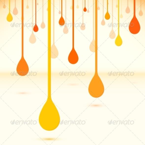GraphicRiver Orange Drops in Flat Design Vector Style 7948851