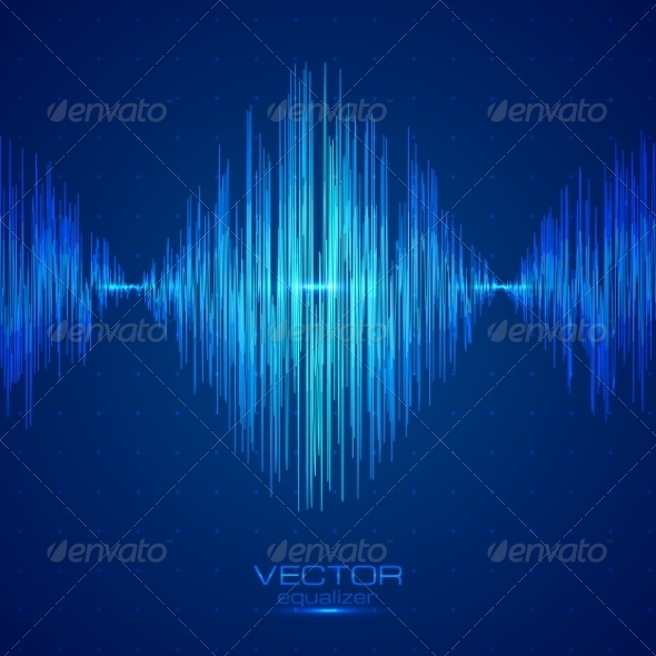 GraphicRiver Blue Vector Equalizer 7948854