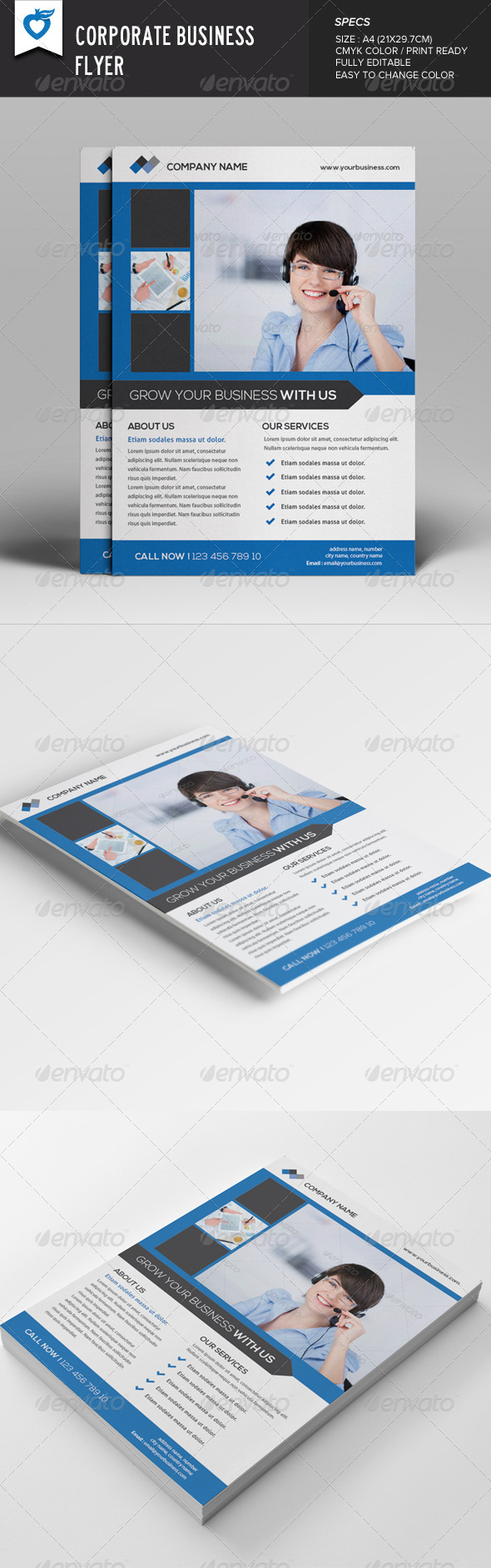GraphicRiver Corporate Business Flyer v7 7948921