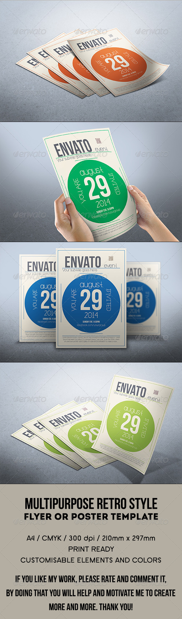 GraphicRiver Multipurpose retro flyer 7949249