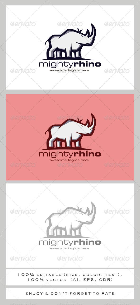 GraphicRiver Mighty Rhino Logo Mascot 7949287