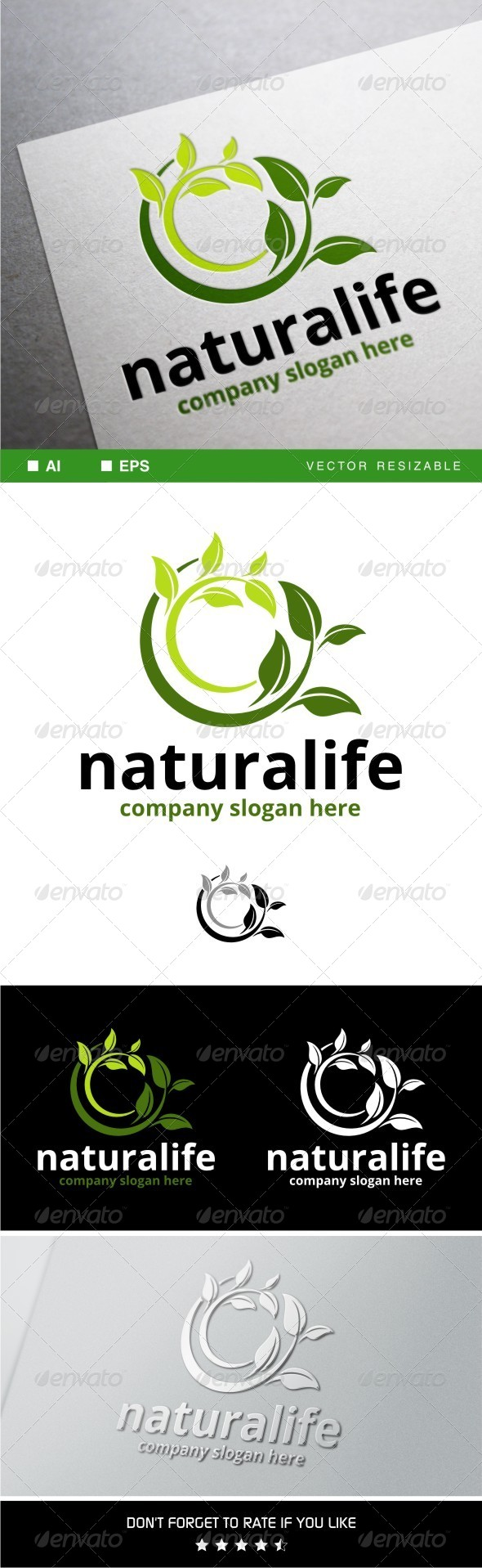 GraphicRiver Naturalife Logo Template 7949487