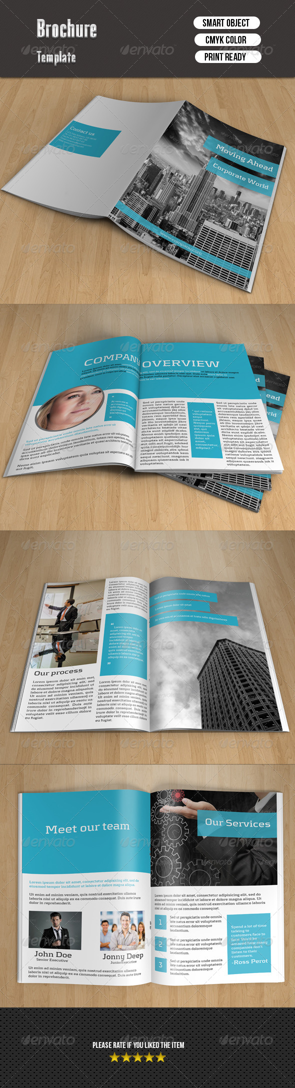 GraphicRiver Corporate Bi-fold Brochure 7949579