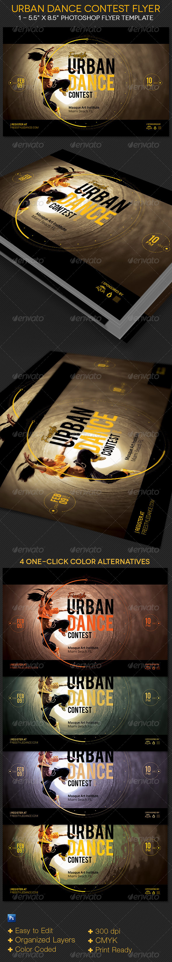 GraphicRiver Urban Dance Contest Flyer Template 7949759